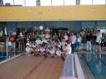 Todo los componentes del club, nadadores y familiares